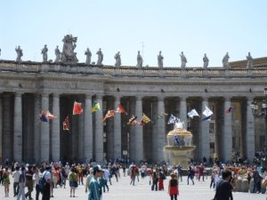Flag Show inside the Vatican